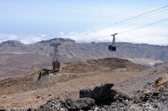 Cablecar to Pico de Teide, Tenerife Stock Photos