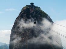 Cablecar to Sugarloaf Mountain Rio de Janeiro Brazil Stock Images