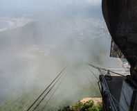 Cablecar to Sugarloaf Mountain Rio de Janeiro Brazil Royalty Free Stock Photo