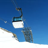 Cablecar to Val d'Isere, Royalty Free Stock Photos