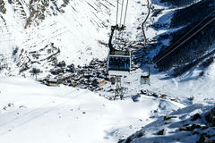 Cablecar to Val d'Isere, Stock Photo