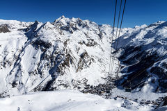 Cablecar to Val d'Isere, Royalty Free Stock Image