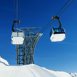Cablecar to Val d'Isere, Royalty Free Stock Photo