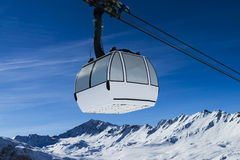 Cablecar to Val d'Isere, Royalty Free Stock Images