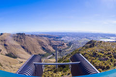 Cablecar View of Queenstown and Lake Wakatipu. Royalty Free Stock Photography
