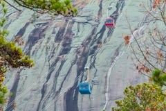 Cablecarril en el parque de Stone Mountain, los E.E.U.U. Fotos de archivo libres de regalías