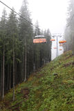 Cablecarril en montaña Fotografía de archivo libre de regalías