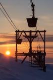 Cablecarril viejo al carbón que transporta en Longyearbyen, Spitsbergen Fotos de archivo