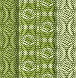 Cabled knitted pattern green Royalty Free Stock Photos