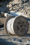 Cabledrum at building site Stock Images