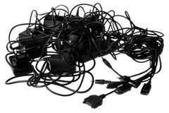 Cablegrafía caos Imágenes de archivo libres de regalías