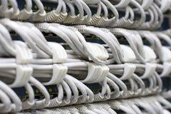Cablegrafía el fondo Fotos de archivo