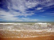 Cablegrafíe la playa Imagen de archivo libre de regalías