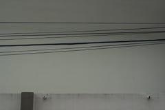 Cableon eléctrico la pared Imagen de archivo libre de regalías