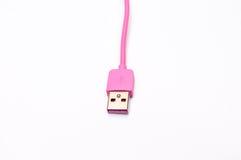 Cabler rosa del telefono cellulare fotografia stock