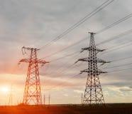 Cables électriques à haute tension photo libre de droits
