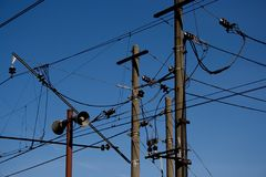 Cables électriques. Image stock