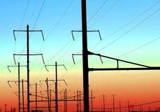 Cables électriques Images stock