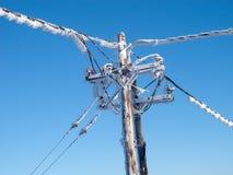 Cables électriques figés Photo libre de droits