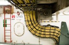 Cables électriques industriels épais Images libres de droits