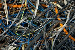 Cables. Messy pile of discarded cables Royalty Free Stock Photos