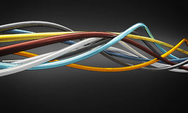 Cables. Metal cable 3d fine background Royalty Free Stock Photography