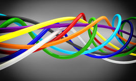 Cables 3d. Fine 3d background of cable Royalty Free Stock Photo