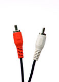 Cables audios Foto de archivo