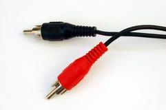 Cables audios Imagen de archivo libre de regalías