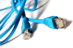 Cables azules Foto de archivo
