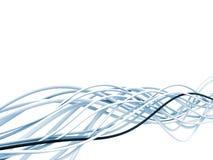 Cables azules y blancos