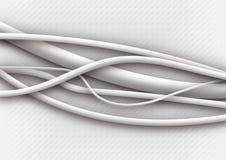 Cables blancos Foto de archivo