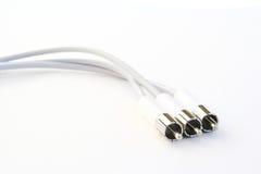 Cables blancos Imágenes de archivo libres de regalías