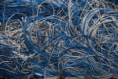 Cables blue white Royalty Free Stock Photography
