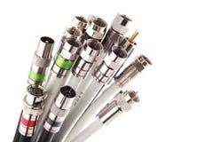 Cables coaxiles imagen de archivo