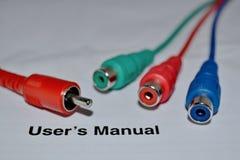 Cables coloreados desconectados Fotos de archivo libres de regalías