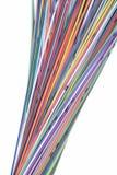 Cables coloreados multi de la red de ordenadores Fotografía de archivo
