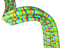 Cables with colorful stripes Stock Photo