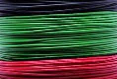 Cables coloridos Fotografía de archivo libre de regalías