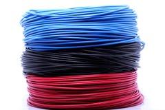 Cables coloridos Fotografía de archivo