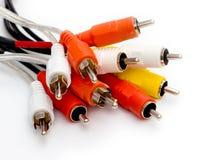 Cables coloridos Imágenes de archivo libres de regalías