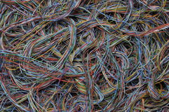 Cables of computer and internet network Royalty Free Stock Images