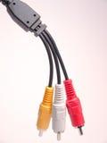 Cables de audio y vídeo Imagen de archivo libre de regalías