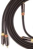 Cables de audio y vídeo del aislante Fotografía de archivo