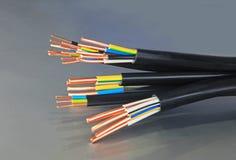 Cables de cobre Foto de archivo libre de regalías