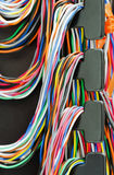 Cables de cobre Imagen de archivo