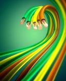 Cables de cobre coloridos Imagen de archivo