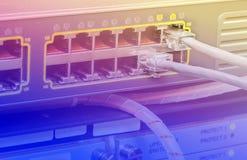 Cables de Ethernet de UTP Foto de archivo libre de regalías