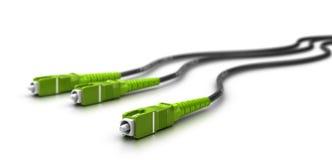 Cables de fibra óptica con los conectores