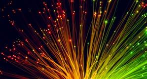 Cables de fribra óptica Imagen de archivo libre de regalías